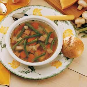 Green Bean Soup Recipe- Recipes  This soup has been passed down for generations beginning with my great-grandmother. I make it often, especially when I can use homegrown beans, carrots, onions and potatoes.