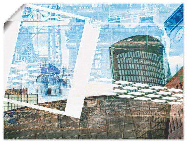 Kunstdruck Poster Leinwandbild Nettesart Dortmund Skyline Abstrakte Collage In 2020 Architekturzeichnung Architektur Collage Architektur Portfolio Layout