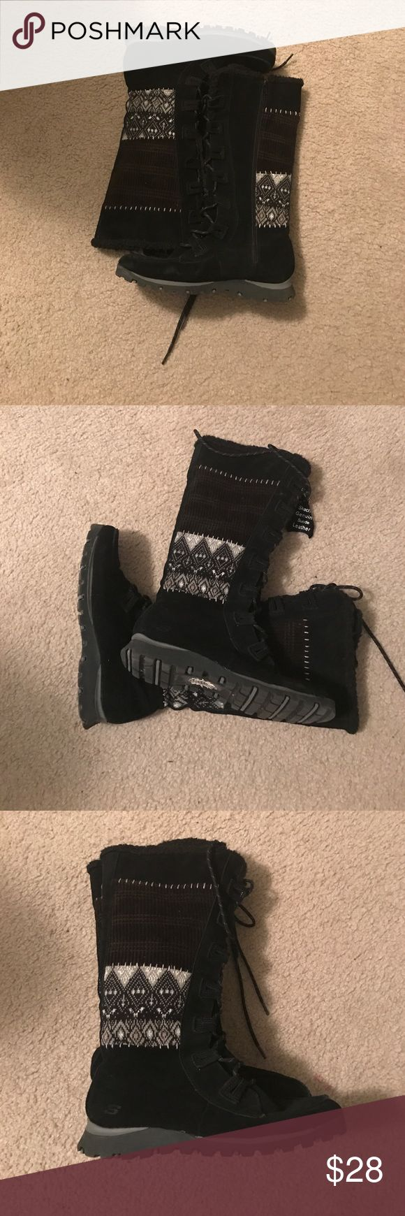 Skechers winter boots Skechers winter boots in good condition with lined fleece... these boots are very warm and well constructed... Skechers Shoes Winter & Rain Boots