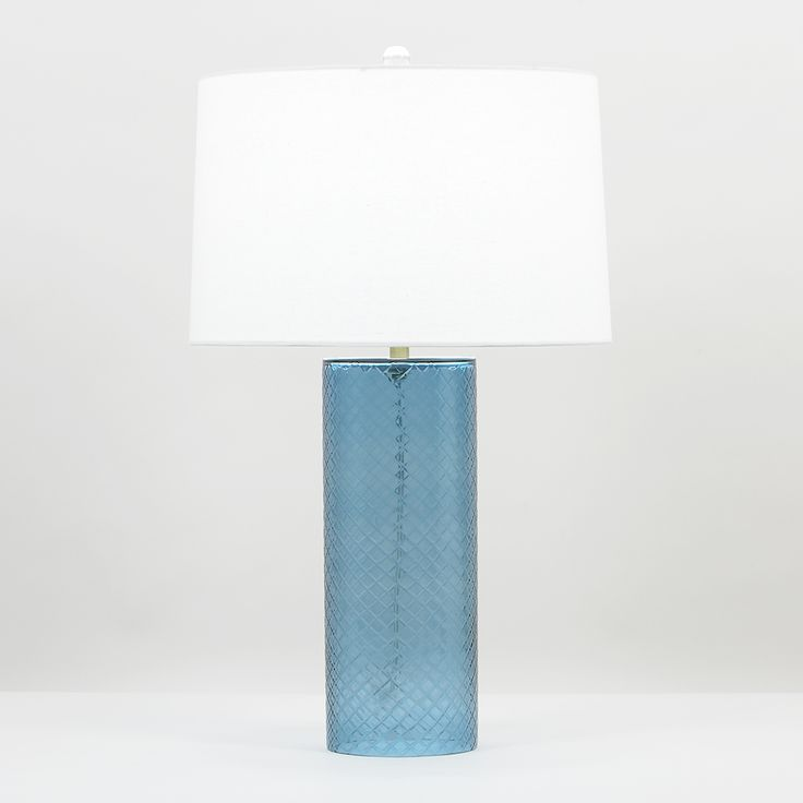 Bailey Table Lamp From Flow Decor Gorgeous Blue Mouth Blown Glass Lighting We LampsTablesInterior DesignBlown GlassGlass LightsKansas CityPhp