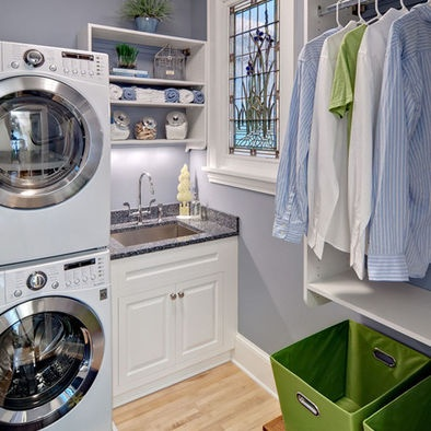 Contemporary Spaces Stackable Laundry Design Pictures Remodel Decor And Ideas