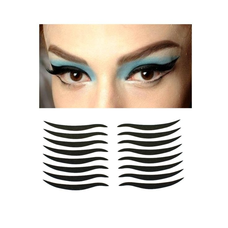 160Pcs/10Packs Eyelid Tools Sexy Cat Style  Eyes Sticker Black  Eyeliner Tape Beauty Eyeliner Sticker Makeup Tool for Cosmetics