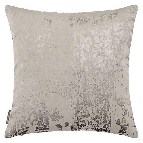 Buy Harlequin Eglomise Cushion, Platinum Online at johnlewis.com