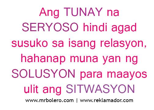 Best Tagalog Love Quotes - Relasyon Problem Quotes