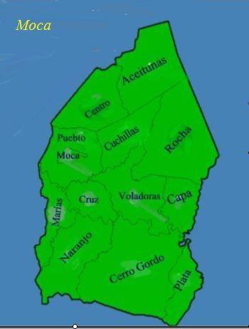 Barrios of Moca, Puerto Rico | MOCA - La Capital Del ...