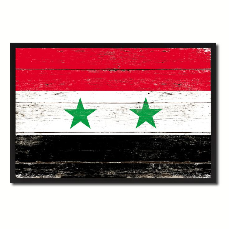 Syria Country National Flag Vintage Canvas Print with Picture Frame Home Decor Wall Art Collection Gift Ideas