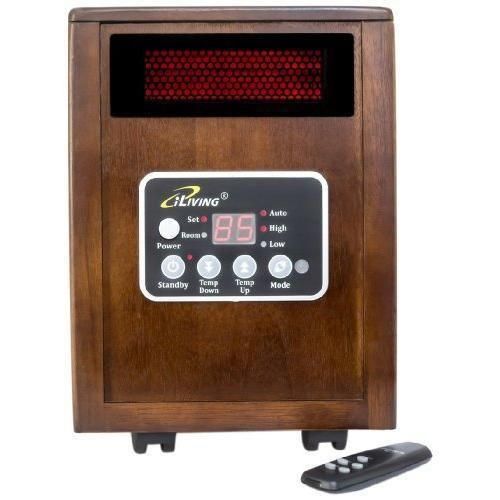 iLIVING Infrared Portable Space Heater with Dual Heating System 1500W Remote