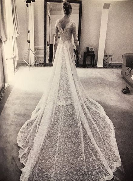 Beatrice Borromeo showed off her stunning Giorgio Armani Privé wedding dress