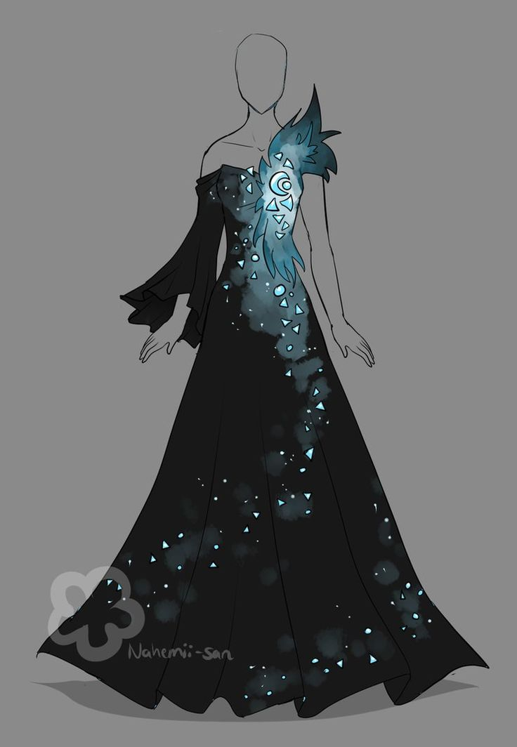 I randomly had the thought: What if there's a crystal in a dark dress and the color grows from there? Kinda inspired by this thought Auction Rules: - This Auction ends 24 hours after last bid. - Pl...