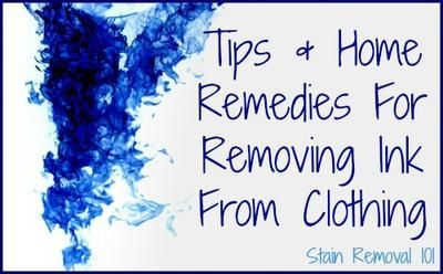 home remedies to remove stains from white clothes