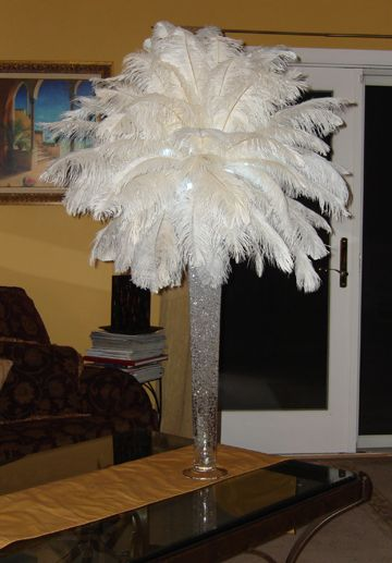 Best ostrich feather centerpieces ideas on pinterest