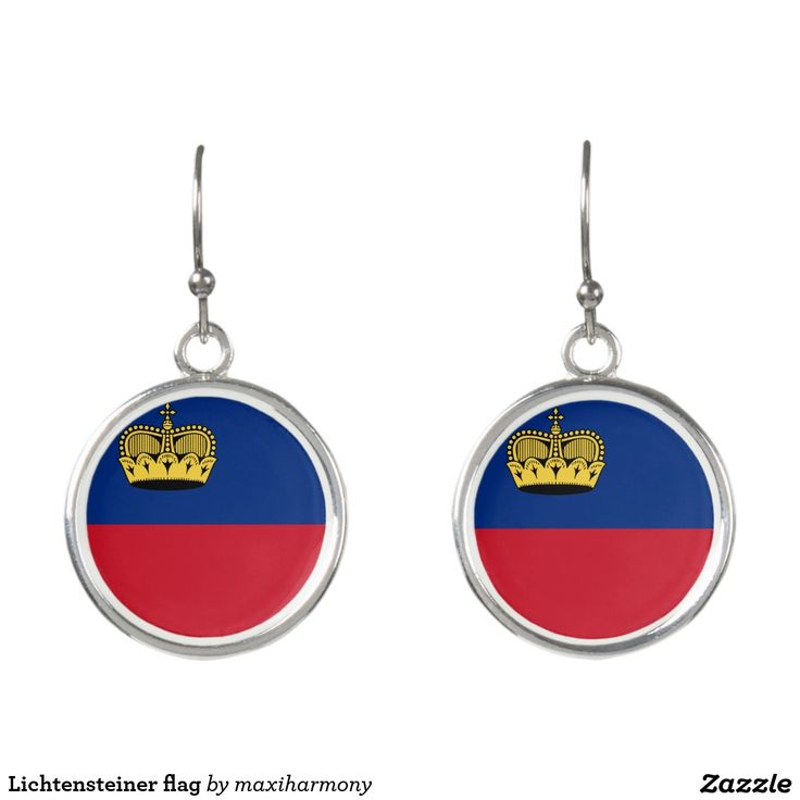 Lichtensteiner flag earrings