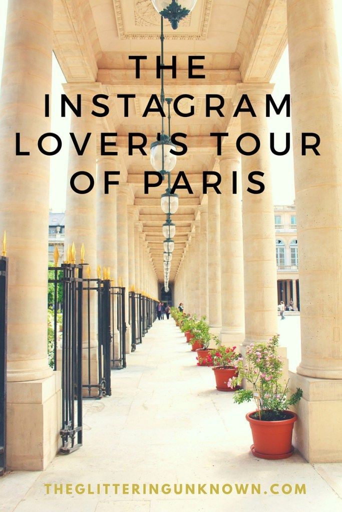 The Instagram Lover's Tour of Paris- Some of the most photogenic locations in Paris, plus an interactive map and transport instructions!