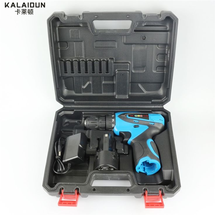 94.80$  Watch now - http://aliuuj.worldwells.pw/go.php?t=32792200048 - KALAIDUN 12V Electric Drill Mobile Power Tools Electric Screwdrive Lithium Battery Cordless Impact Drill With Extra Toolbox