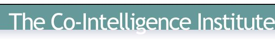 Co-intelligence is a capacity that goes far beyond individual IQ-based intelligence.     Co-intelligence is intelligence that's grounded in wholeness, interconnectedness and co-creativity.    It is collective, collaborative, synergistic, wise, resonant, heartful, and connected to greater sources of intelligence
