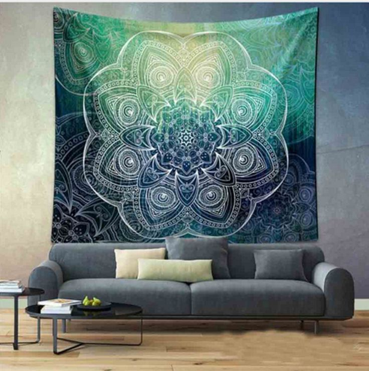 Goedkope Indian mandala tapestry groen blauwe bloem mooie muur art tapestry 210x150 cm sprei strandlaken yoga deken tafel doek, koop Kwaliteit tapijt rechtstreeks van Leveranciers van China:   beschrijving:maat: M: 150*130 CM/L: 210*150 CMpakket inbegrepen: 1 xCurtainmateriaal: Polyesterkleur: Als Picturerte