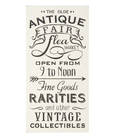 Another great find on #zulily! 'The Olde Antique Fair' Indoor/Outdoor Wall Sign #zulilyfinds