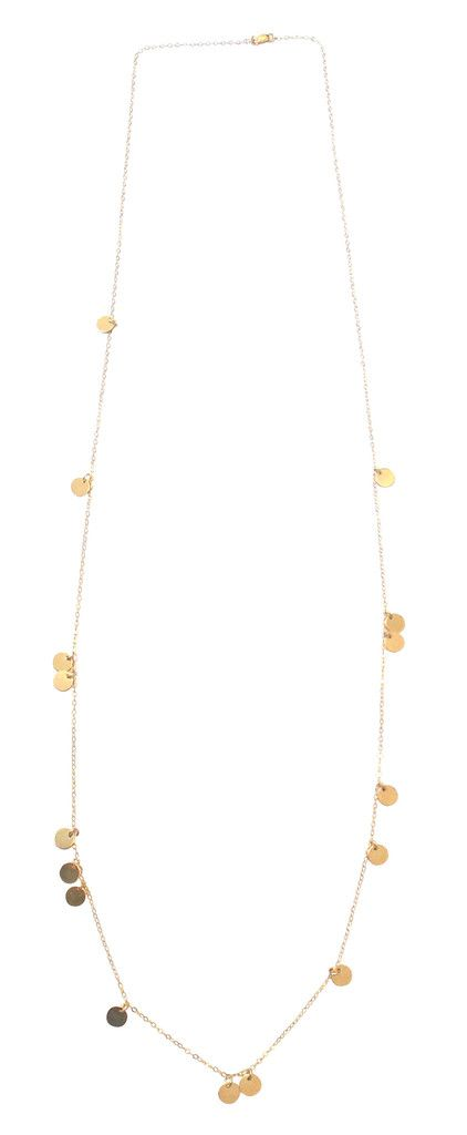 The Neva - Long Mini Disc Necklace - Gold, Silver, Rose Gold