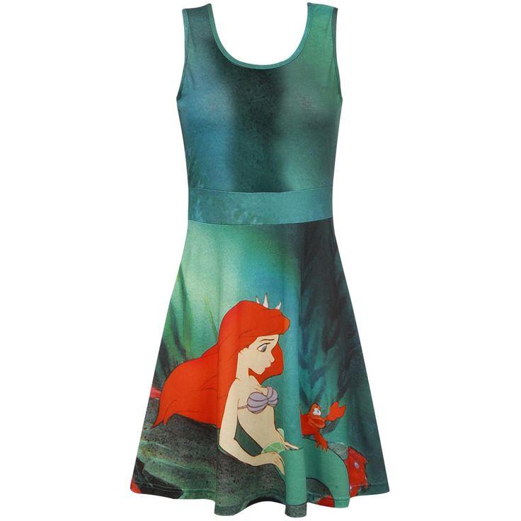 Walt Disney  Korte jurk  »Ariel The Little Mermaid - Sabastian« | Nu te koop bij Large | Meer Kunsthars  Korte jurken online beschikbaar - De beste prijs!