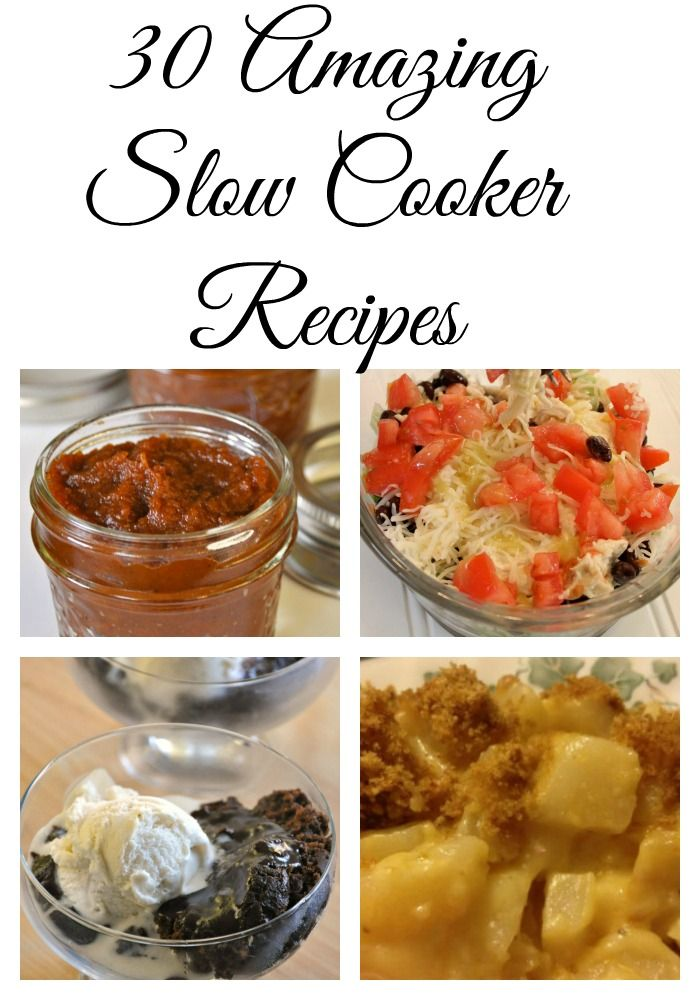 30 Slow Cooker Recipes #recipes - Round up!