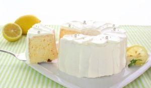 「ノンオイルレモンヨーグルトシフォン【No.327】」※アルミシフォン型17cm 1台分レモンとヨーグルトの爽やかな酸味で、食欲の無い夏でもさっぱりいただけるノンオイルのシフォンケーキです。【楽天レシピ】