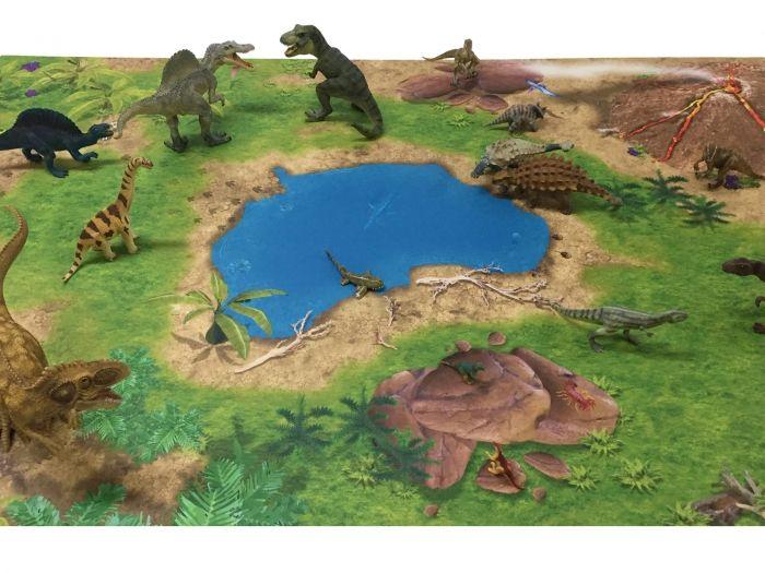 Popular Dinosaurier Dinoland Spielmatte Spielteppich Dinos in Action Ideal f r Schleich Papo