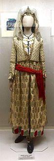 """Η Φορεσιά του Αρχαγγέλου """"Μηλιά"""" ,18ος αιώνας.(Εθνικό Ιστορικό Μουσείο)"""