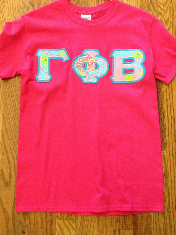Small sorority letter shirt jersey with Lilly Pulitzer fabric ready to ship