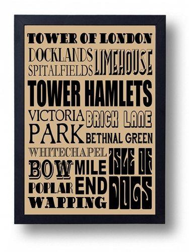 Tower Hamlets Whitechapel Spitalfields Brick Lane by indieprints, $15.00