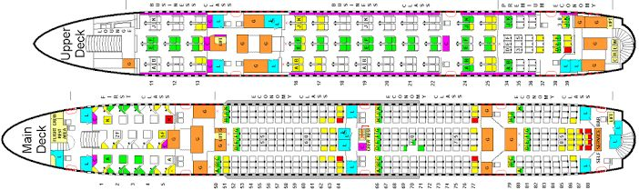 Airbus A380. (Lufthansa seating plan.)