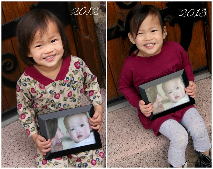 Gotcha Day Photo tradition - Every year on Gotcha Day take a picture in the same spot holding the framed Gotcha day or referral picture!