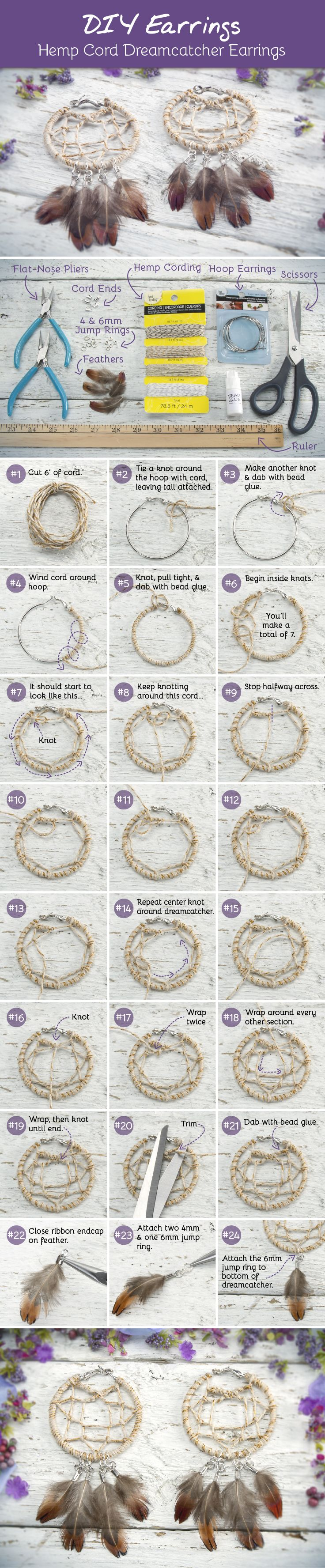 Dream Catcher Earrings - DIY Festival Chic Jewelry