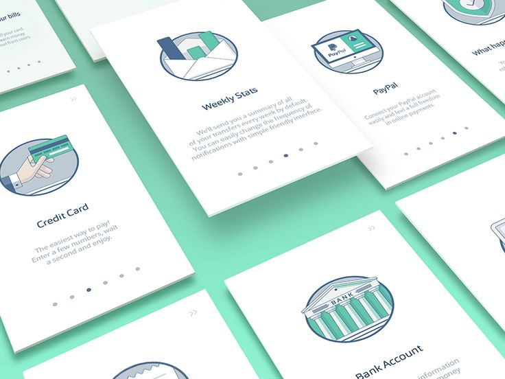 A few more illustrations for onborading flow.   ---  Visit our store → store.ramotion.com ♥ Use code DRIBBBLE30 for 30% discount.