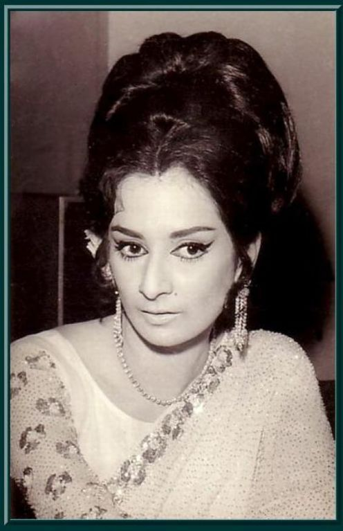 Portraits of Hindi Movie Actress Saira Banu - Old Indian Photos