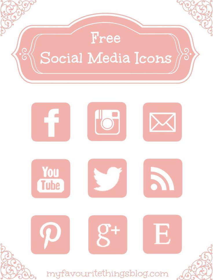 Free Pink Social Media Icons via Hopeful Honey