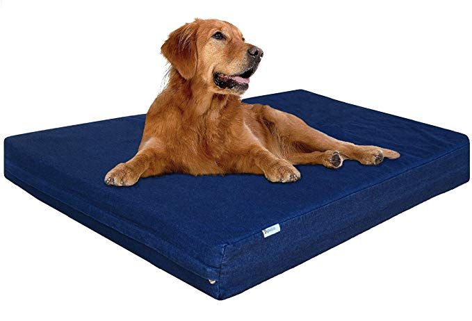 Amazon Com Dogbed4less Xl Waterproof Orthopedic Memory Foam Dog Bed For Large Dogs Durable Wa In 2020 Best Orthopedic Dog Bed Orthopedic Dog Bed Memory Foam Dog Bed