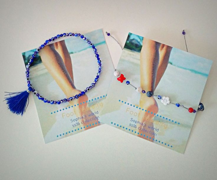 χειροποίητα βραχιόλια για το πόδι, ελαστικό με γυάλινα ματάκια κ κρυσταλλάκια και με διαφορα στοιχεία #foot #bracelets #anklet #footjewelry #handmadegreece #Greece #greekdesigners  https://www.facebook.com/SophiesworldHandmade/