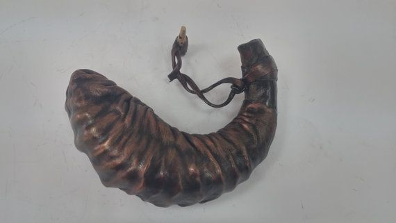 Oil Shofar star of david Real Leather Plate Ram Horn best price best quality VERY RARE!! Very Unique!!