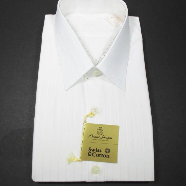 daniel schagen dress shirt 100 swiss cotton white made in. Black Bedroom Furniture Sets. Home Design Ideas