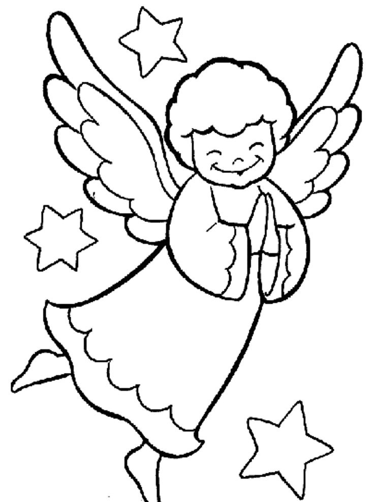 cool coloring pages to print - Coloring Pages Angels Print