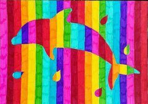 Les over regenboog dieren.  De leerlingen hebben verschillende contouren van dieren gekozen. Ook waren er leerlingen die ervoor hebben gekozen om bijvoorbeeld een hartje re tekenen of een bloem. Vervolgens moesten de leerlingen de afbeelding inkleuren en daarbij tegengestelde kleuren uit de kleurencirkel gebruiken.