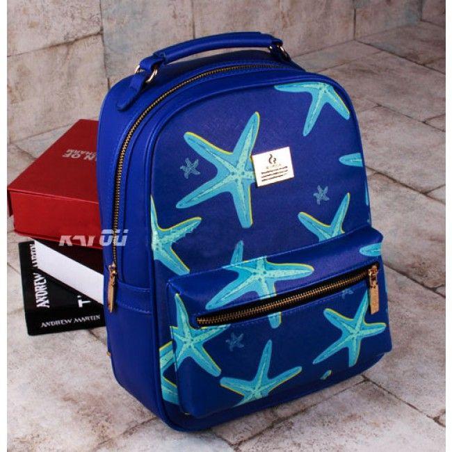 Starfish Printing Leisure Leather Backpacks , Fashion Backpacks - Bags For Big Sale! Starfish Printing Leisure Leather BackpacksJust $32.99 . Starfish Printing Leisure Traveling Backpacks in Atwish.com