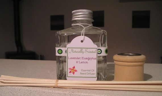 Essential Oil Reed Diffuser  Lemon Lavender & by NaturallyScented, $15.00