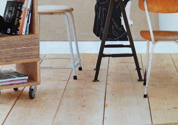 Vuren houten vloer