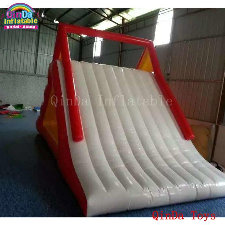 2017 popular red color slides for children,giant inflatable water slide for pool