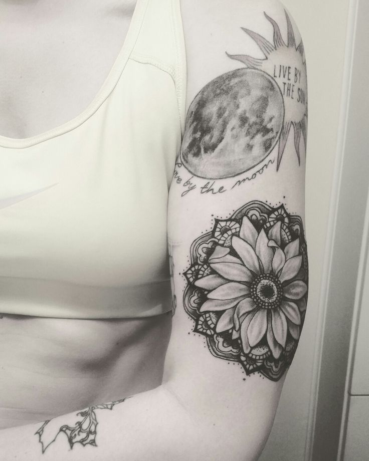 Sunflower Mandala Tattoo #mandala #tattoo #sunflower #sunflowermandala #sunflowermandalatattoo