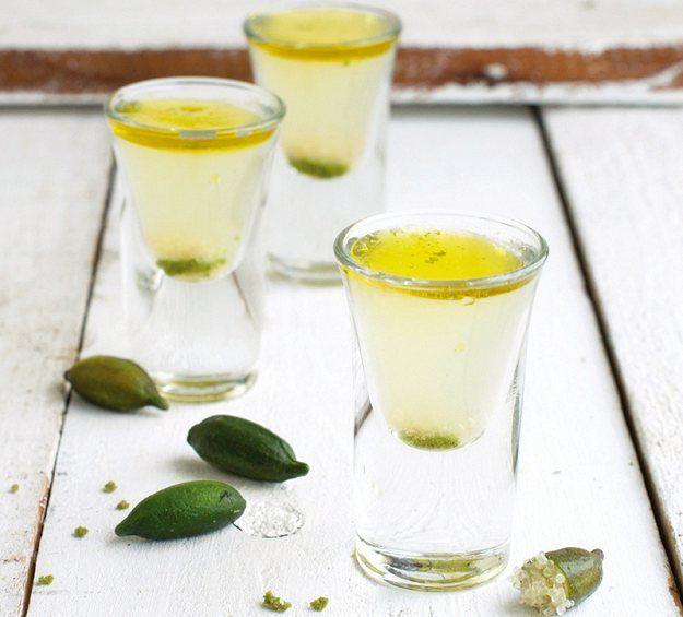 Finger Lime Kamikaze Shots | Finger Lime Cocktail Recipes | Healthy Blender Recipes