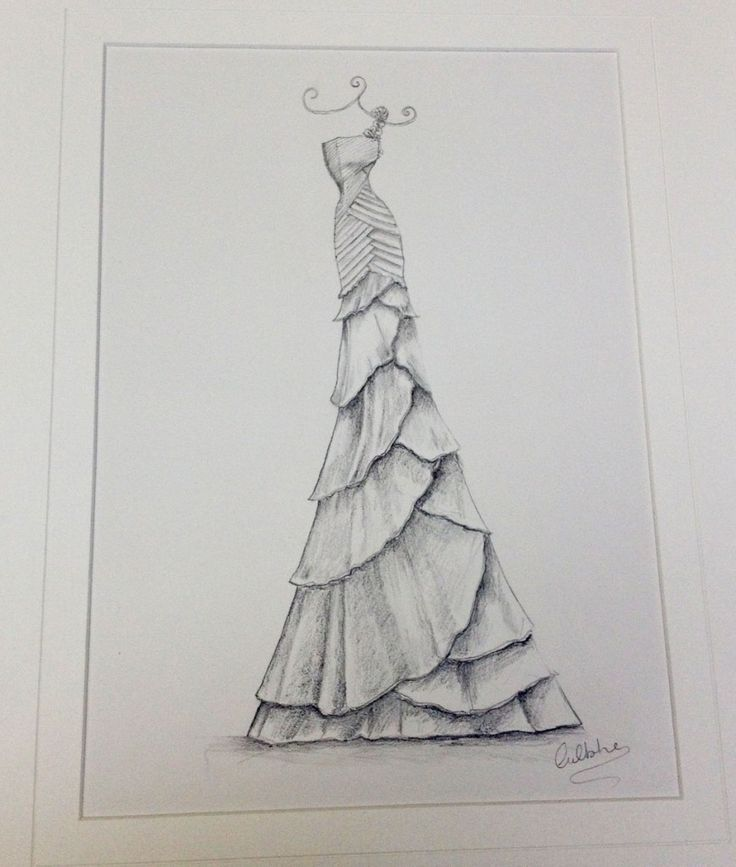 Sketches Of Wedding Gowns: 14 Best Dresses Images On Pinterest