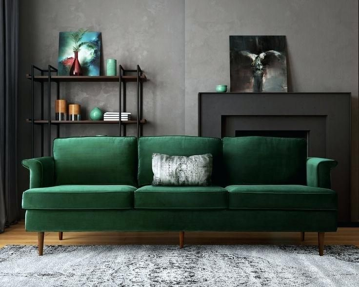 Image Result For Wall Colors With Emerald Green Couch Sillones