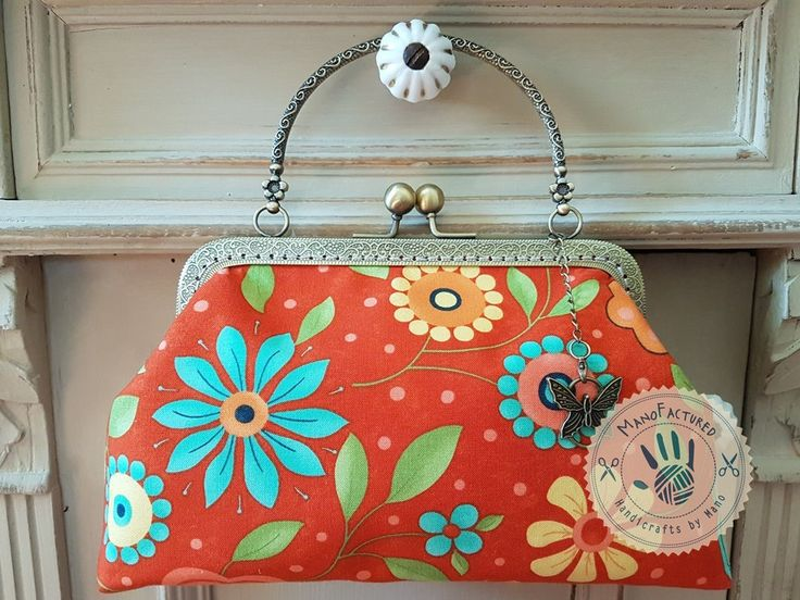 Flower meadow casual bag, 18 cm by ManoFactured on Etsy